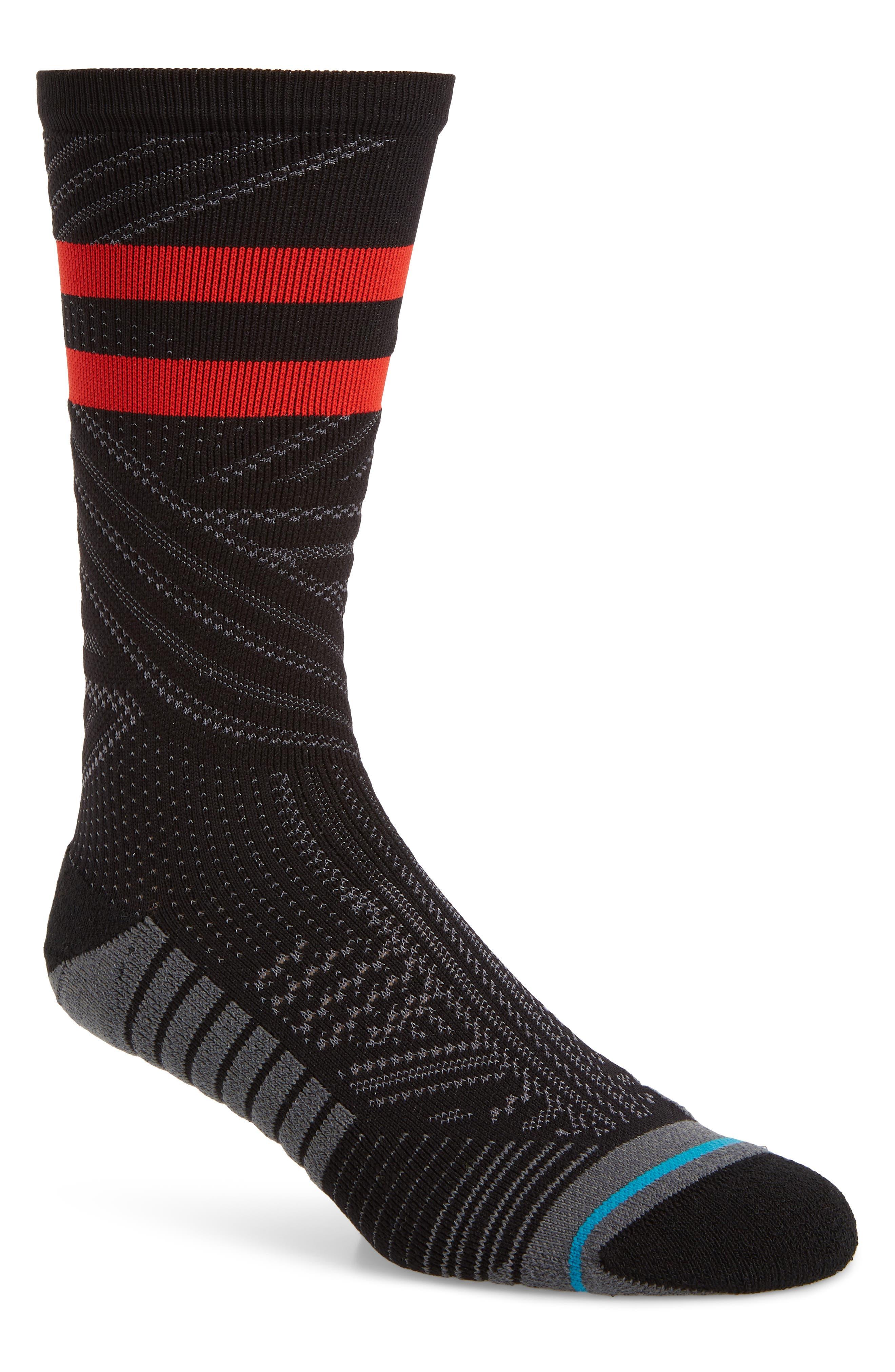 Uncommon Train Crew Socks, Main, color, BLACK