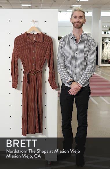 Audrey Stripe Midi Shirtdress, sales video thumbnail