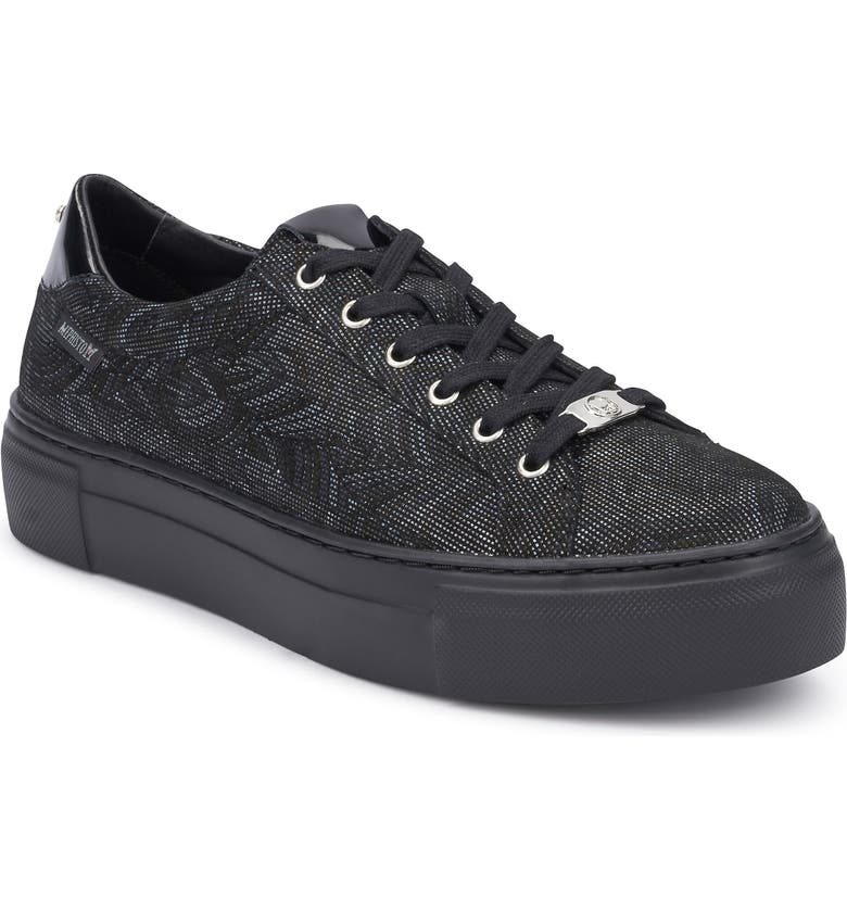 MEPHISTO Gyna Sneaker, Main, color, BLACK PIXEL LEATHER
