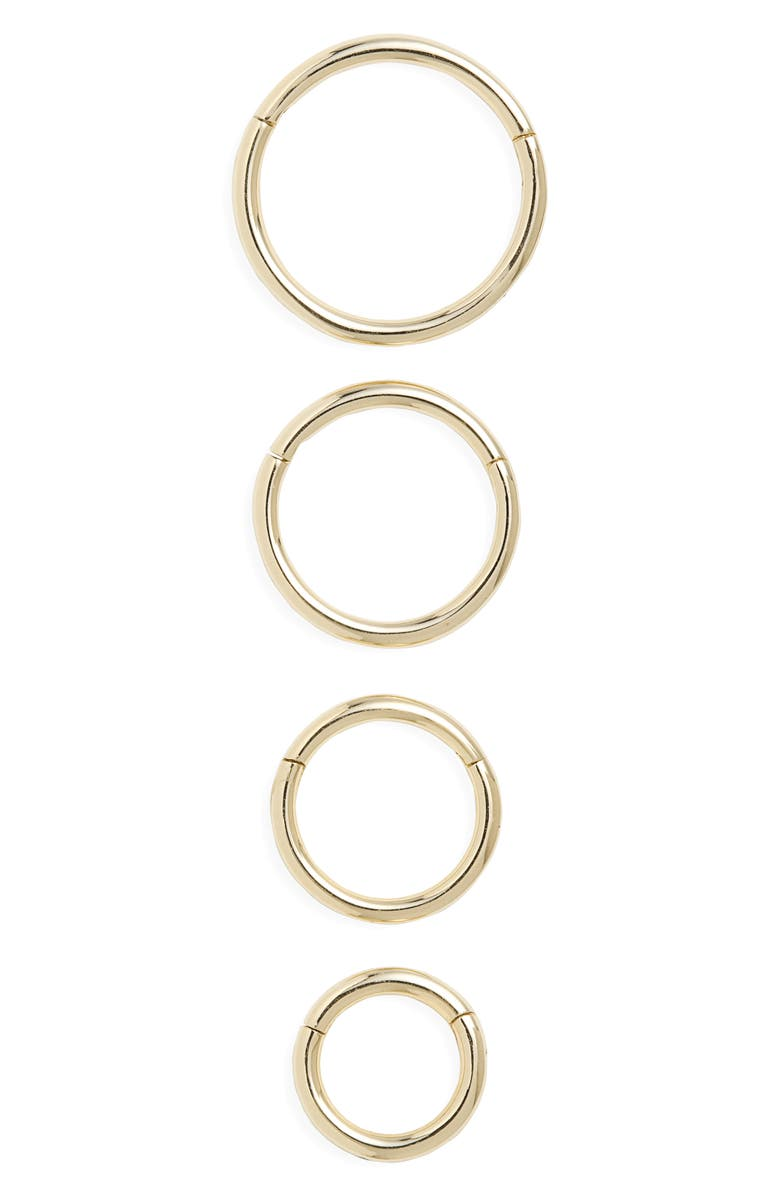 MARIA TASH 14K Gold Plain Clicker, Main, color, YELLOW GOLD