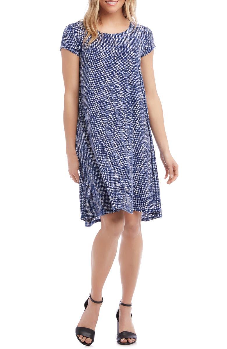 KAREN KANE Maggie Trapeze Dress, Main, color, PRINT