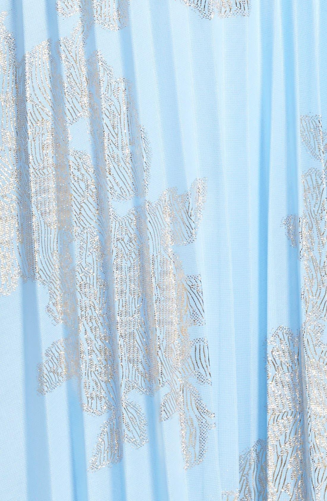 ,                             Foiled Pleated Jersey Blouson Dress,                             Alternate thumbnail 19, color,                             450