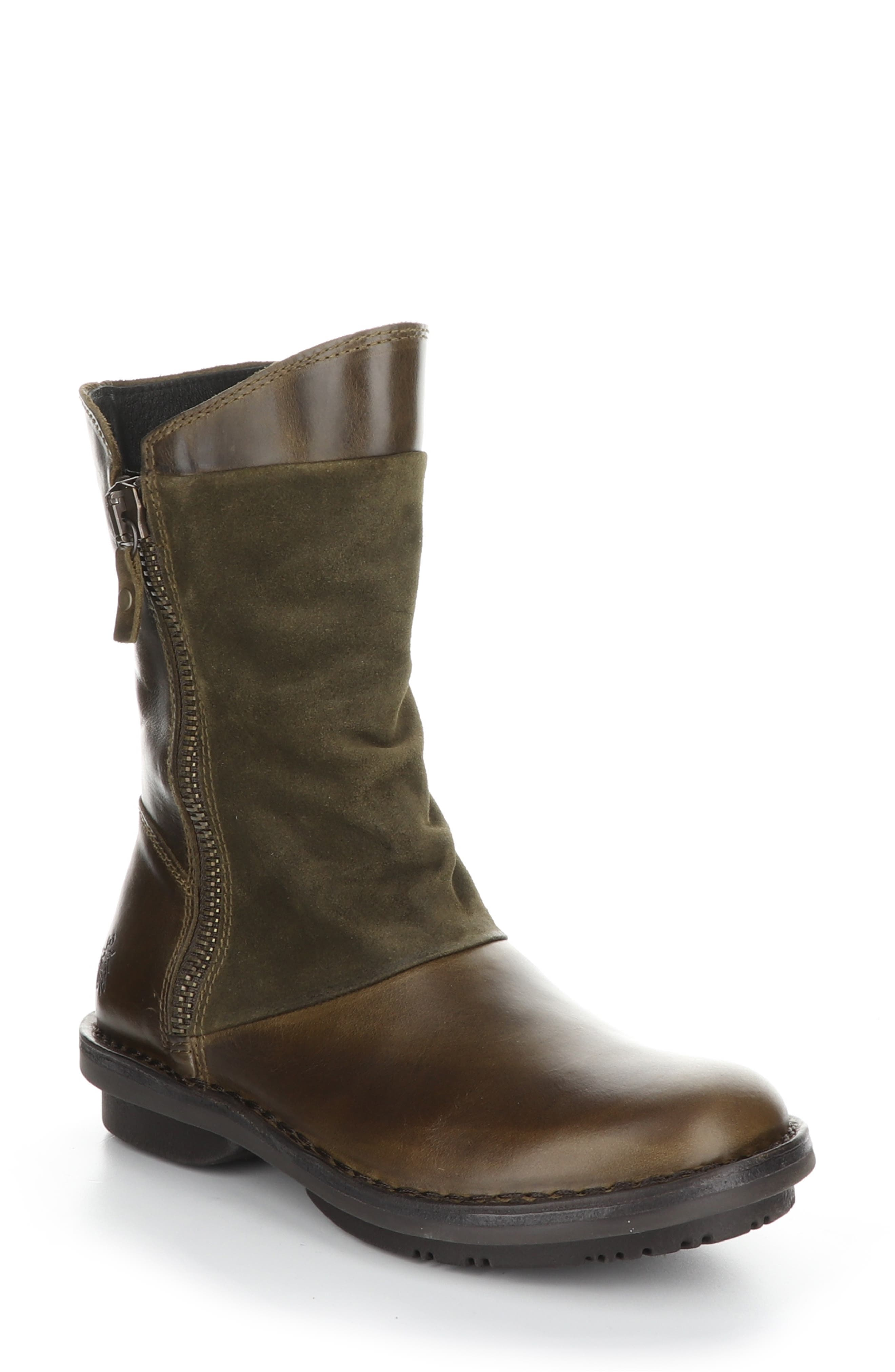 Soft, breathable leather, dual-zipper detailing, stitch-out construction and a cushioned insole make this boot a standout. Style Name: Fly London Flee Boot (Women). Style Number: 6094465. Available in stores.