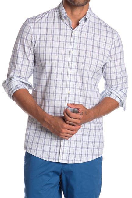 Image of Michael Kors Slim Fit Plaid Print Shirt