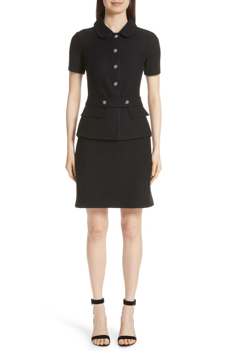 ST. JOHN COLLECTION Gail Knit Dress, Main, color, 001