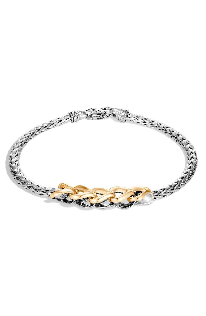 JOHN HARDY Asli Classic Chain Bracelet, Main, color, SILVER/ GOLD