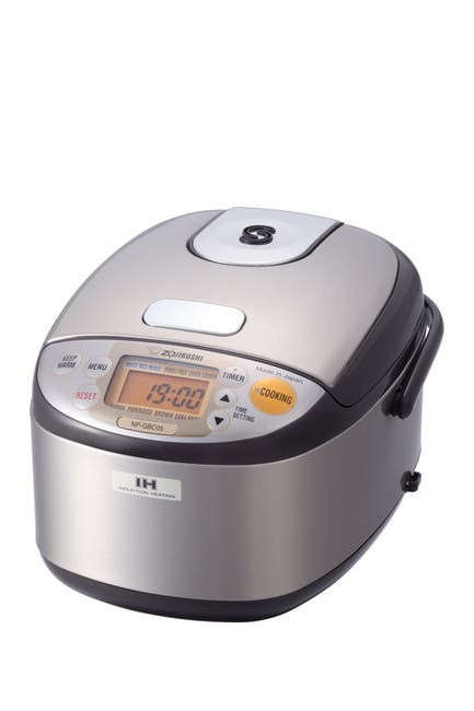 Image of ZOJIRUSHI Induction 3-Cup Rice Cooker & Warmer - Stainless Dark Brown
