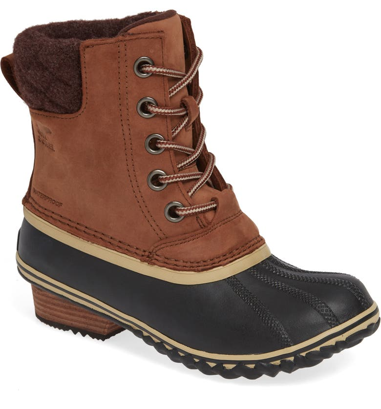 SOREL Slimpack II Waterproof Boot, Main, color, BURRO/ CATTAIL