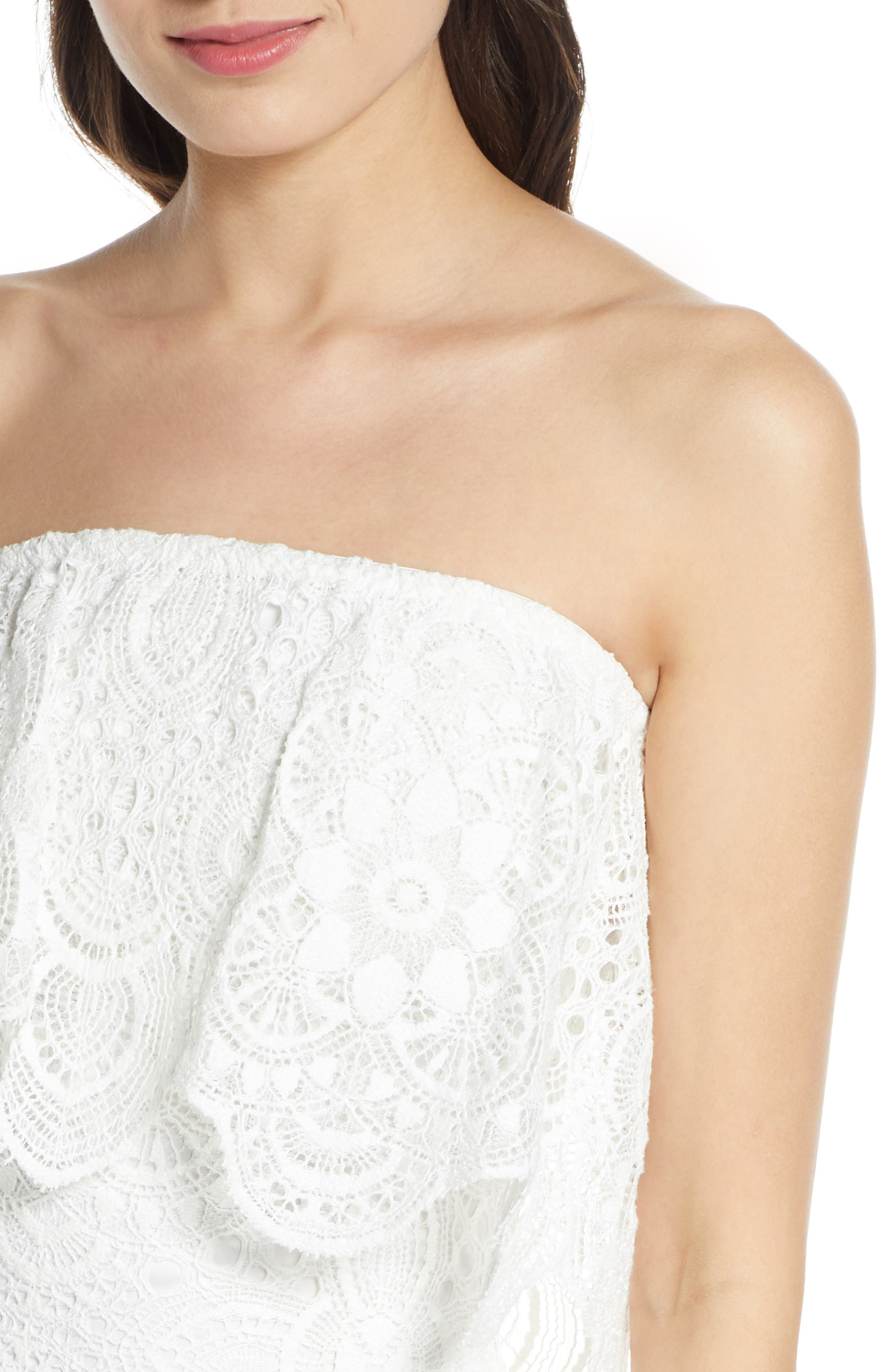Bb Dakota Dresses A Lace of You Strapless Lace Minidress