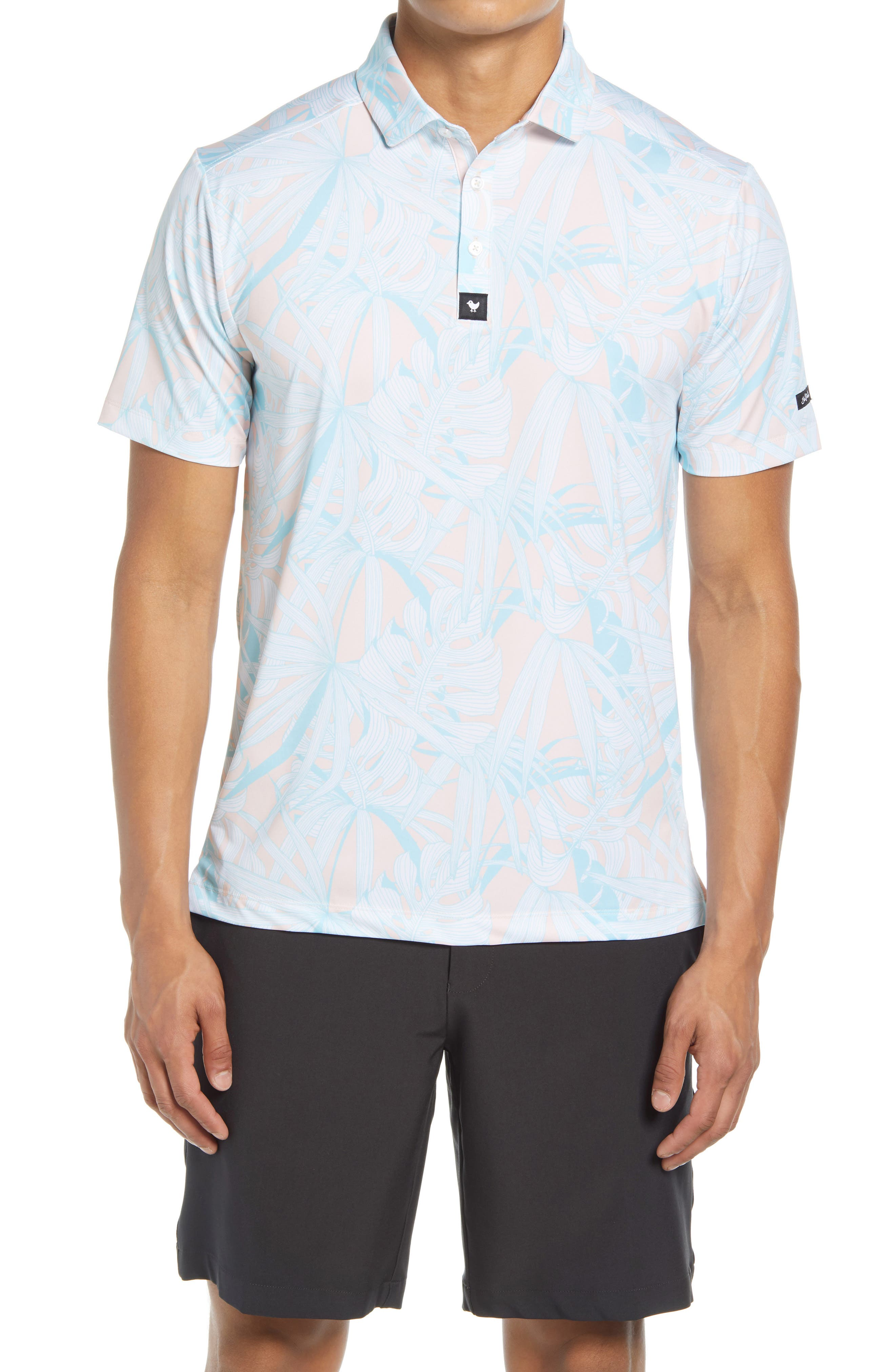 Day Pass Floral Performance Golf Polo