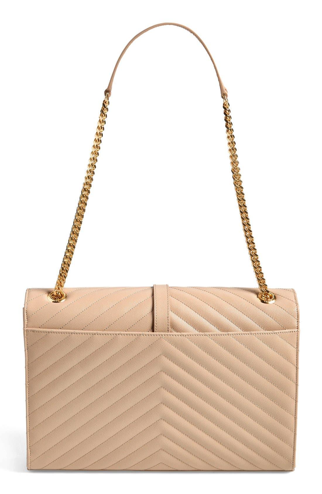 ,                             'Large Monogram' Grained Leather Shoulder Bag,                             Alternate thumbnail 26, color,                             250