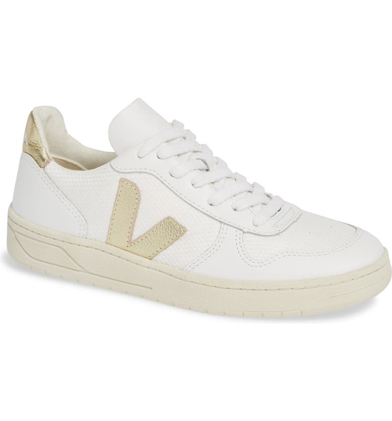 VEJA V-10 Sneaker, Main, color, WHITE GOLD
