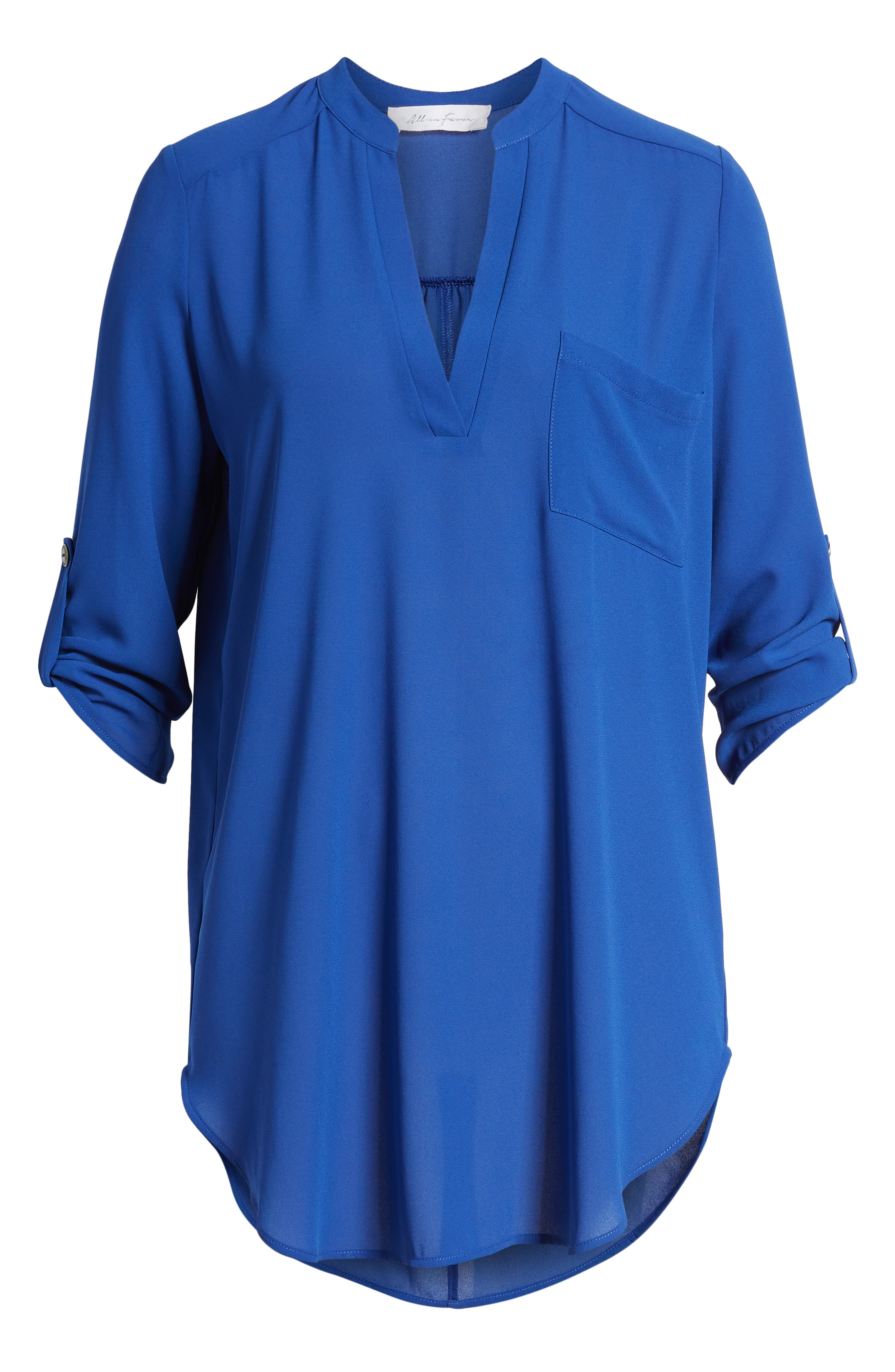 ,                             Perfect Roll Tab Sleeve Tunic,                             Alternate thumbnail 11, color,                             416
