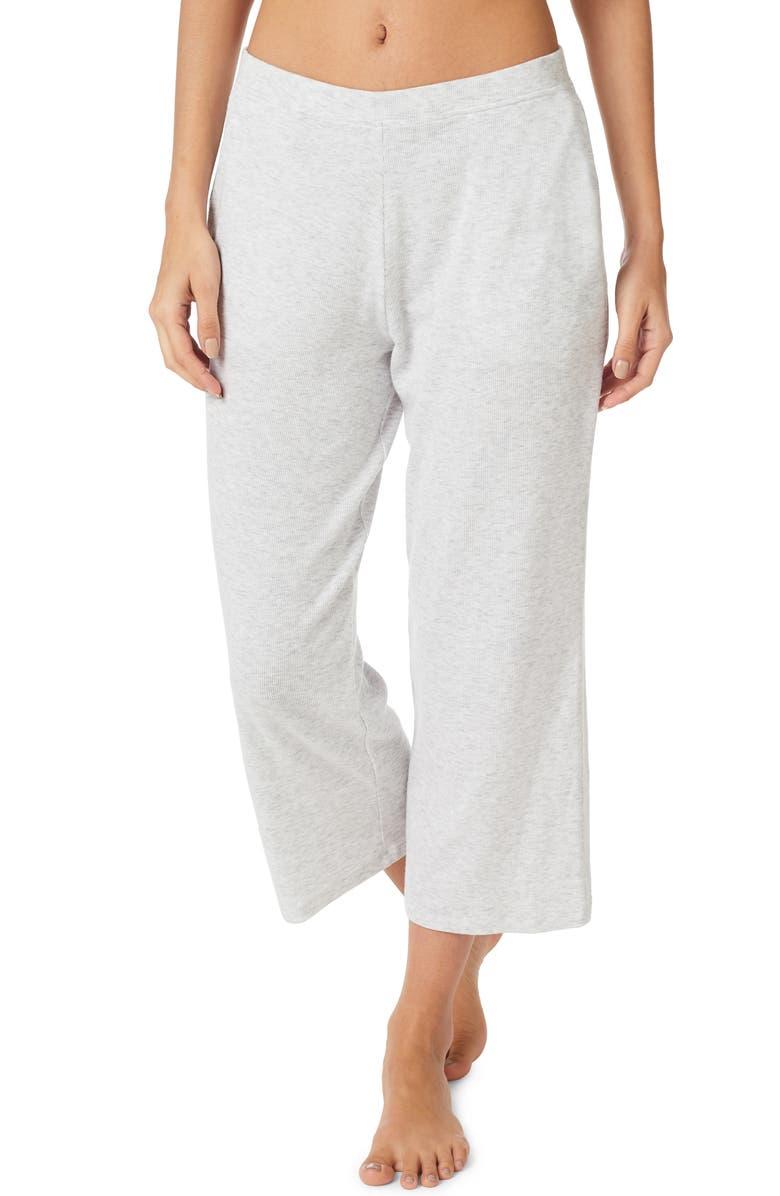 THE WHITE COMPANY Rib Crop Lounge Pants, Main, color, 020