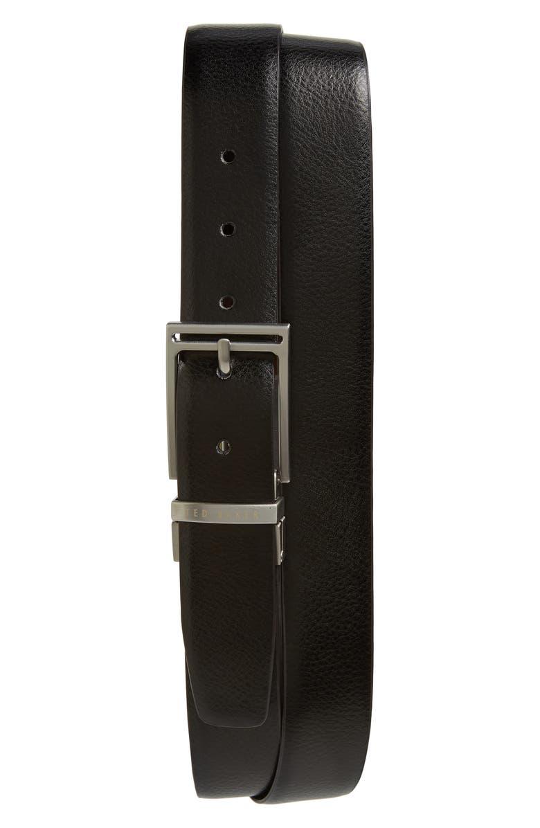 TED BAKER LONDON Gainer Reversible Belt, Main, color, 001