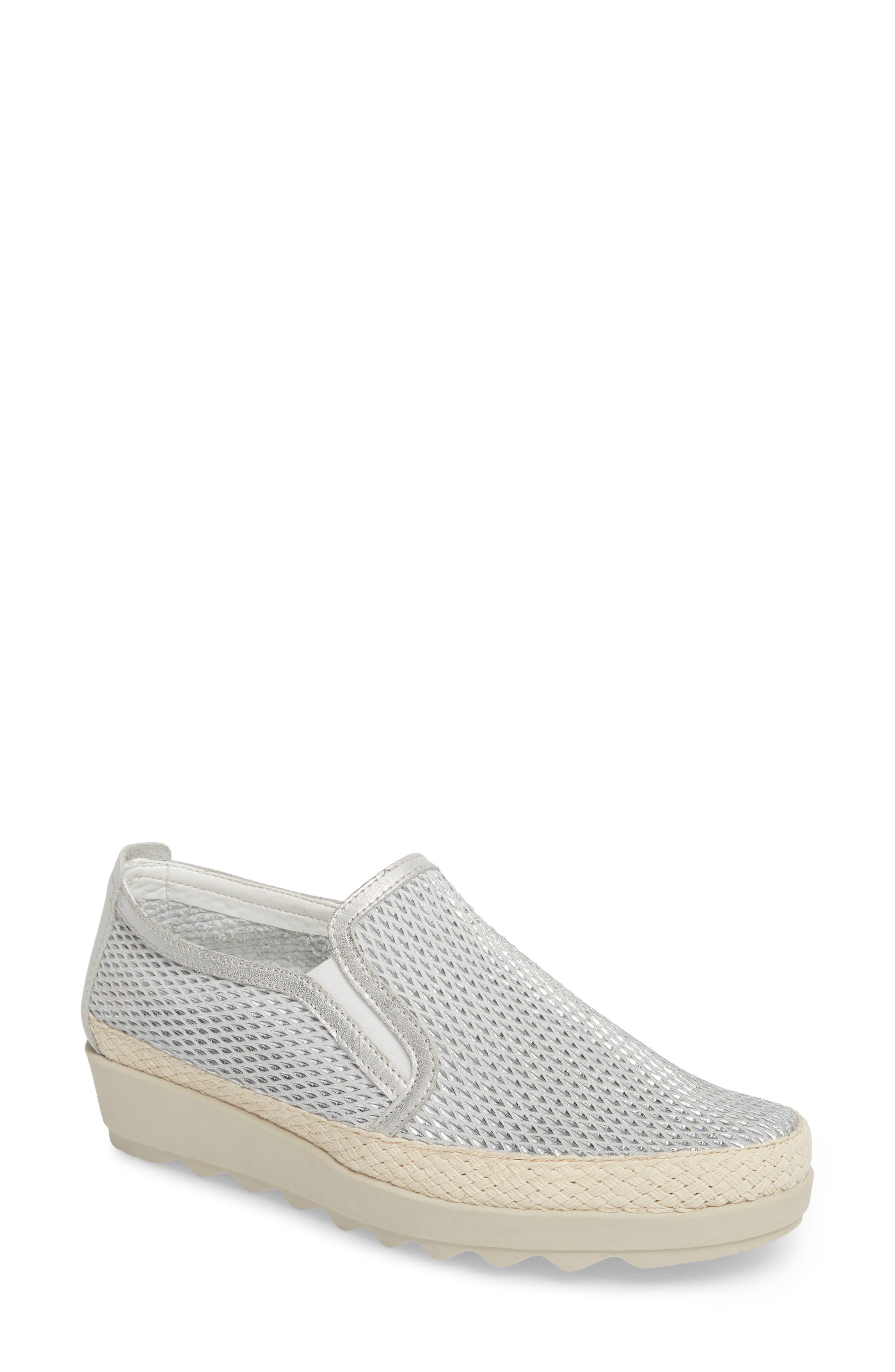 The Flexx Call Me Perforated Slip-On Sneaker, Metallic