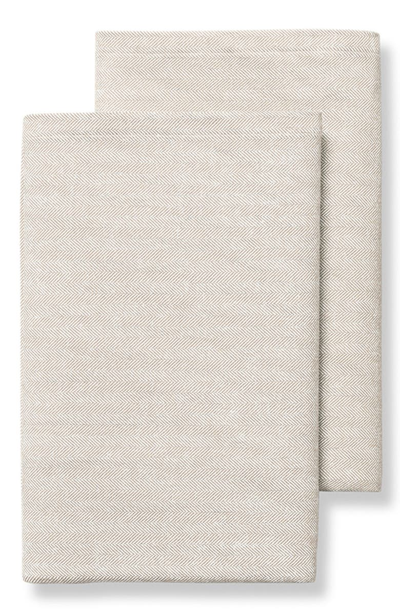 BOLL & BRANCH Set of 2 Organic Cotton Flannel Pillowcases, Main, color, DUNE
