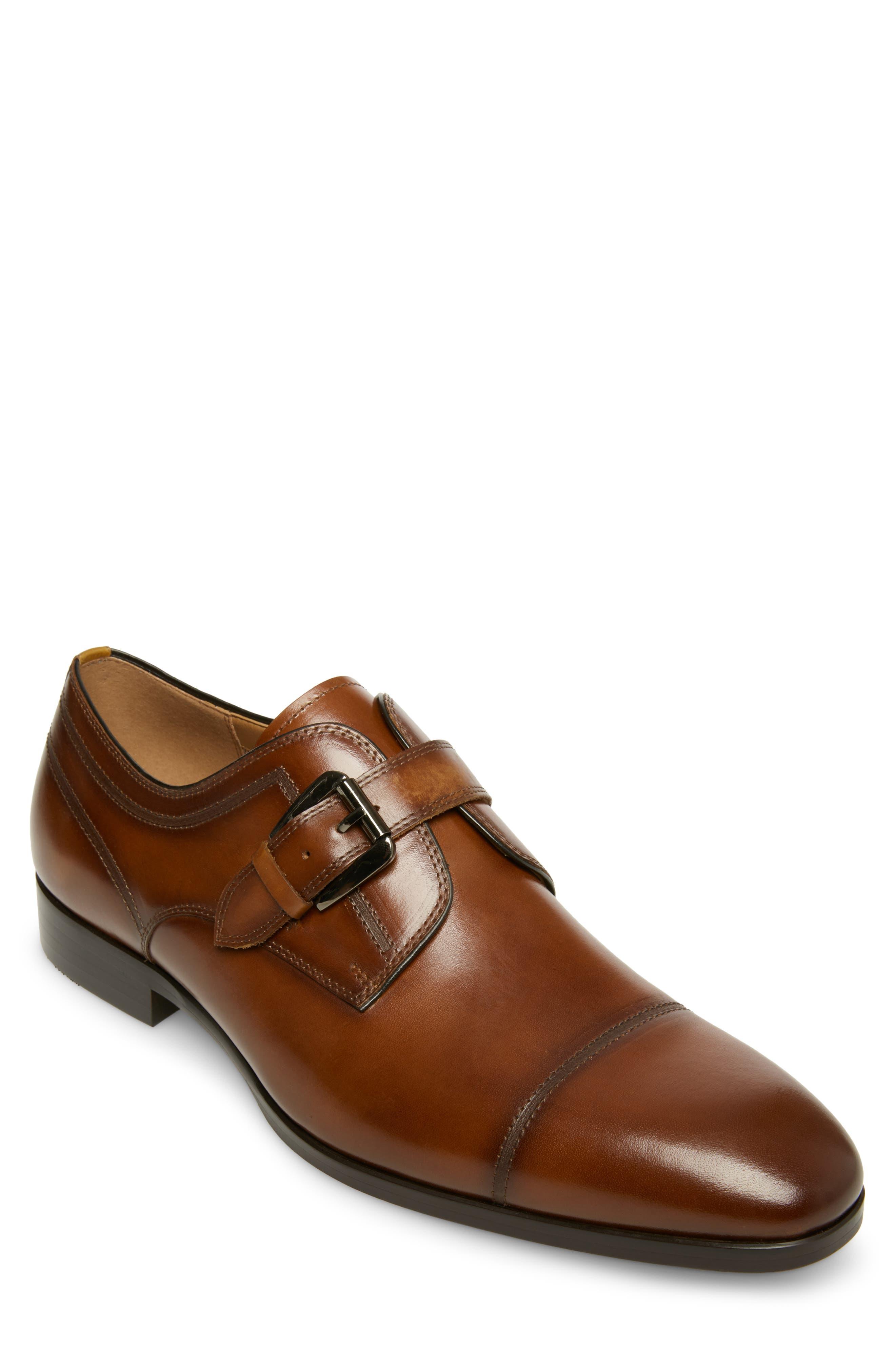 Covet Monk Strap Shoe, Main, color, COGNAC LEATHER