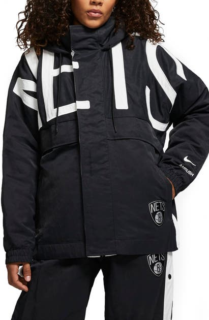 Nike X AMBUSH BROOKLYN NETS WATER REPELLENT NYLON JACKET