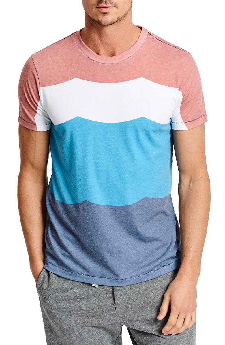 SOL ANGELES Sol Flag Colorblock T-Shirt, Main, color, SOL FLAG