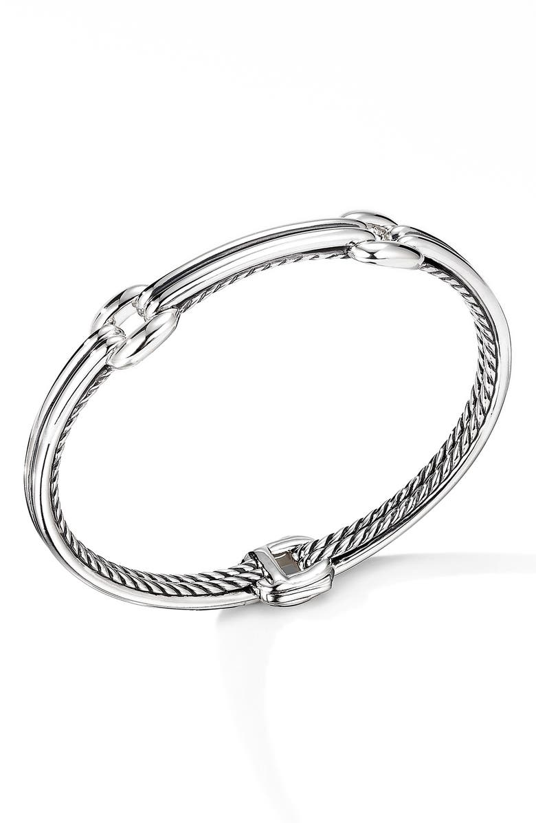 DAVID YURMAN Thoroughbred<sup>®</sup> Double Link Bracelet, Main, color, SILVER