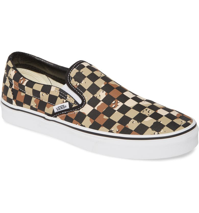 VANS Classic Slip-On, Main, color, CAMO DESERT/ TRUE WHITE