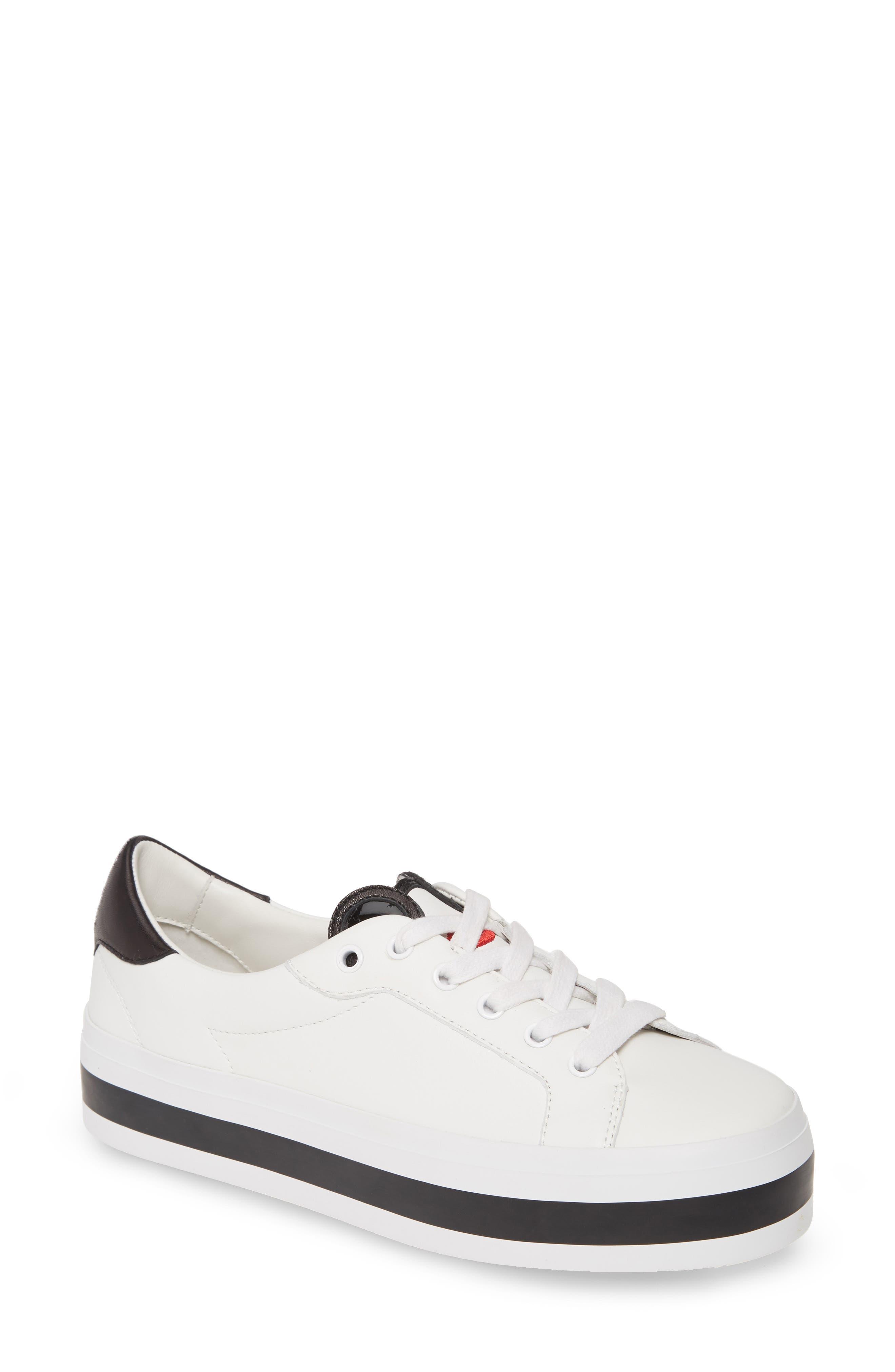 Alicia + Olivia Elisha Low Top Sneaker, White