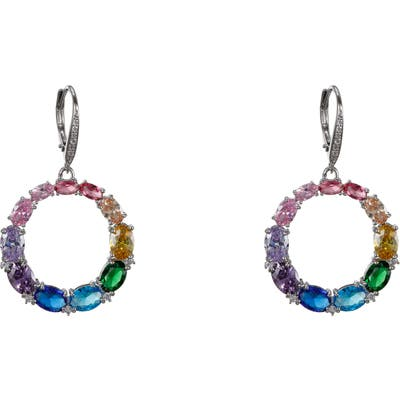 Nina Rainbow Hoop Earrings