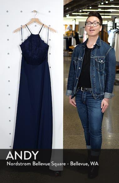 Lace Halter Gown, sales video thumbnail