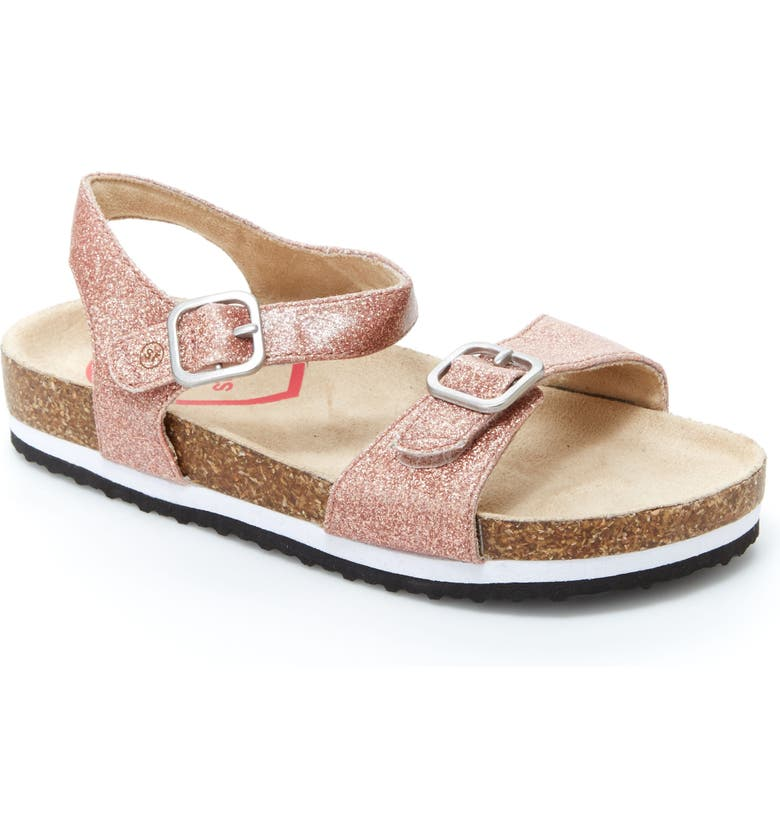 STRIDE RITE Zuly Glitter Sandal, Main, color, ROSE GOLD