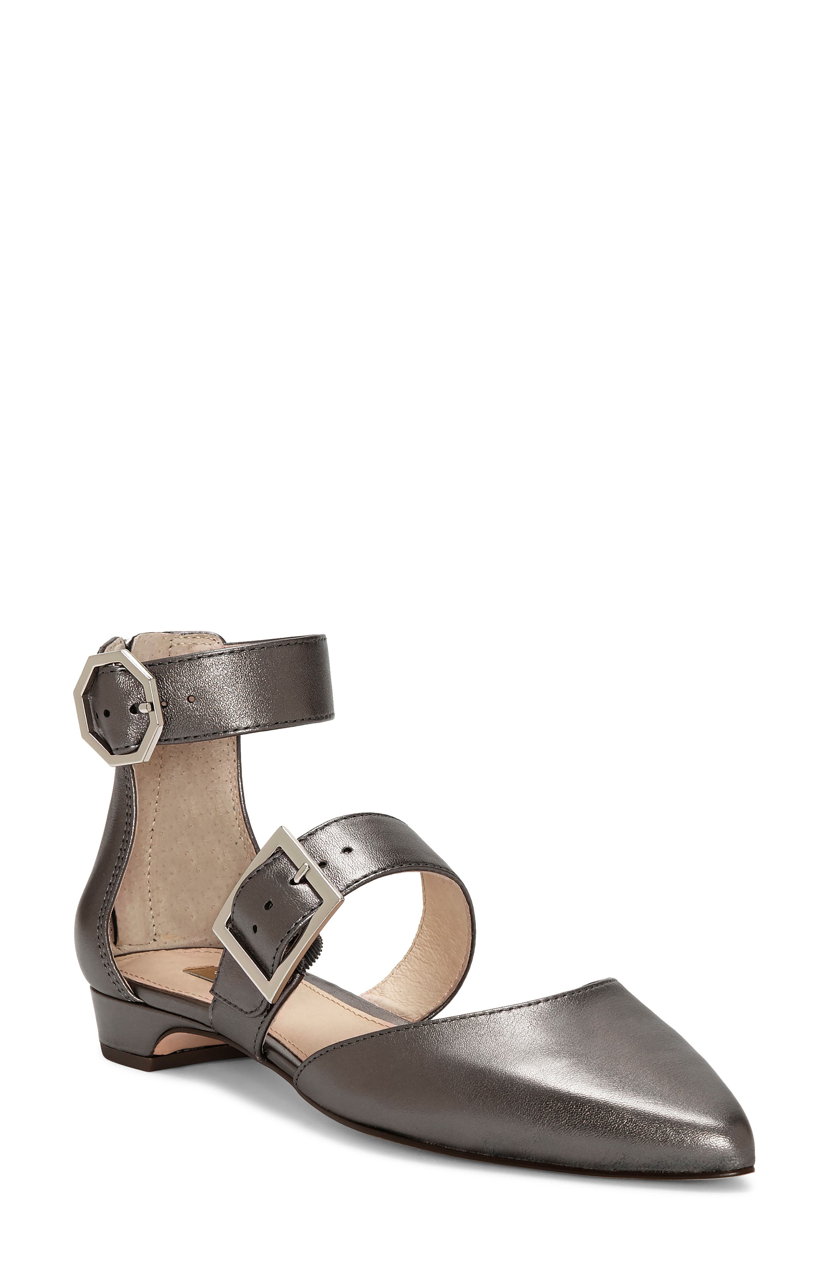 Louise Et Cie Corriett Ankle Strap Sandal- Metallic