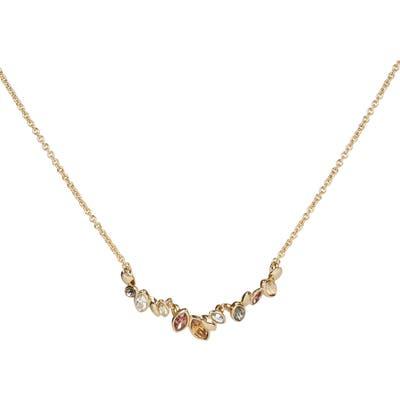 Alexis Bittar Navette Crystal Row Pendant Necklace
