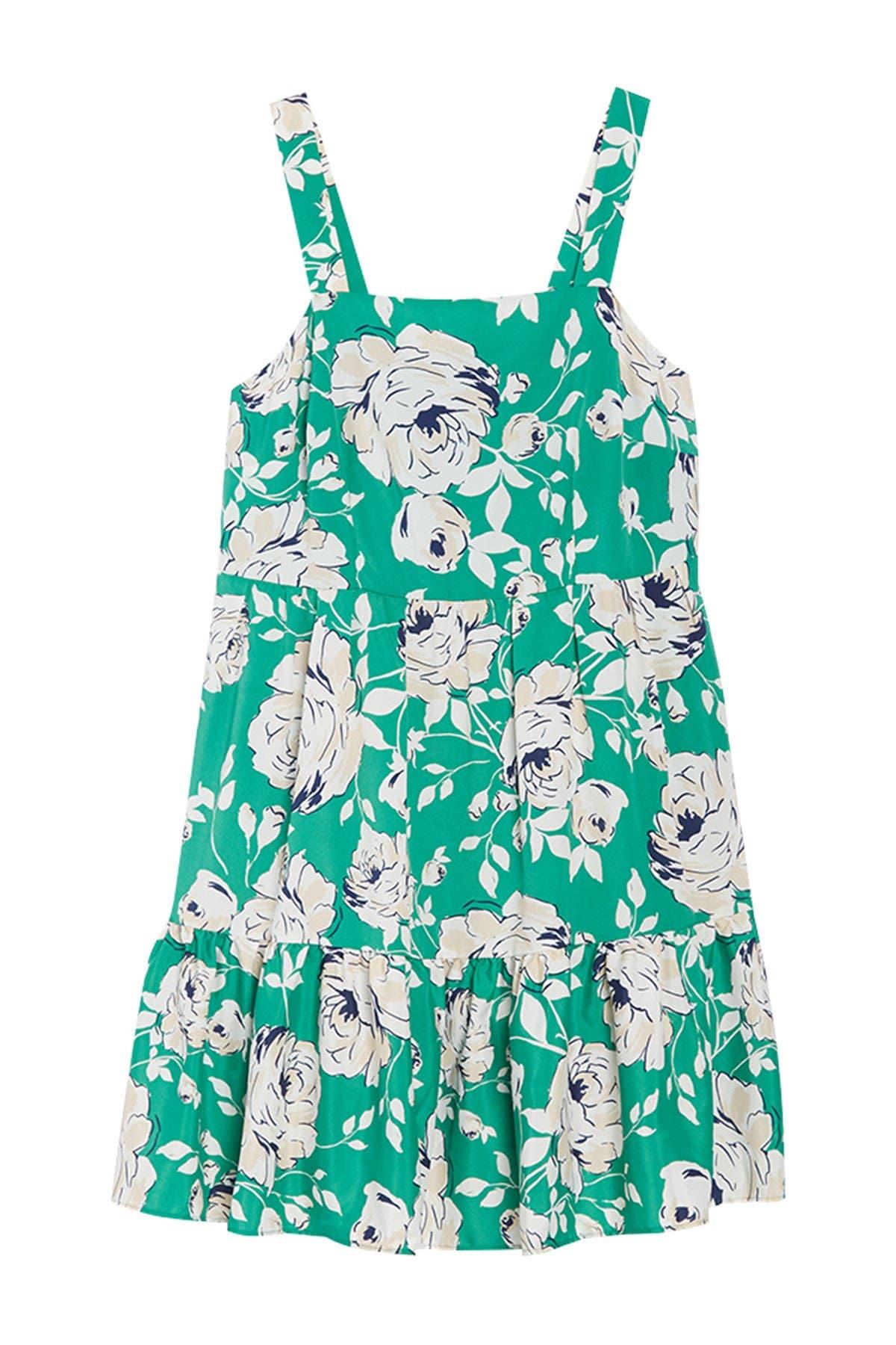 Image of Eliza J Tiered Floral Print Dress
