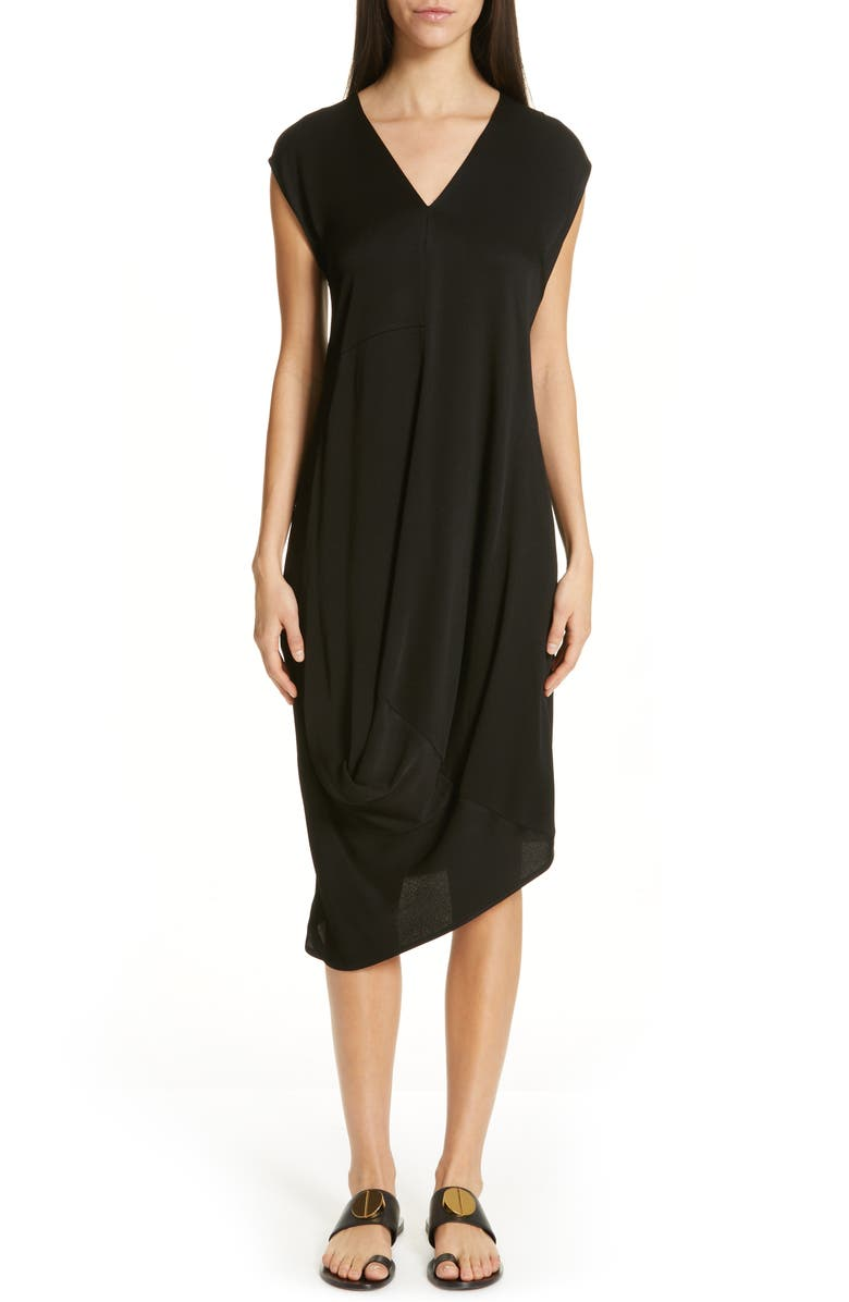 ZERO + MARIA CORNEJO Loop Drape Dress, Main, color, BLACK