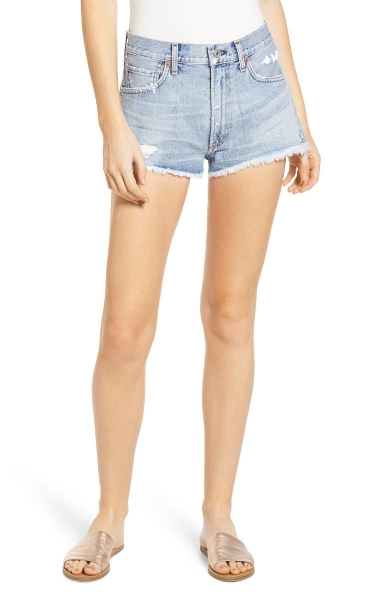 CITIZENS OF HUMANITY Danielle Cutoff Denim Shorts, Main, color, COVE