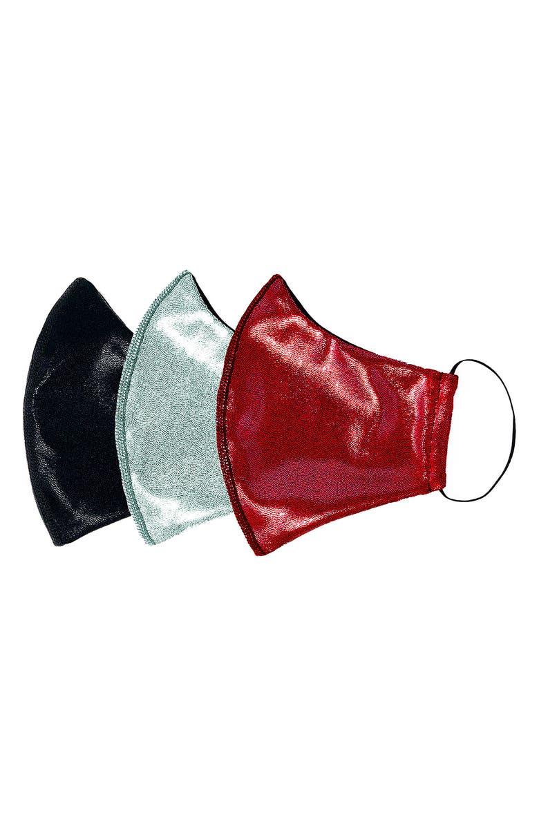 Heroine Sport Assorted 3-Pack Adult Metallic Face Masks