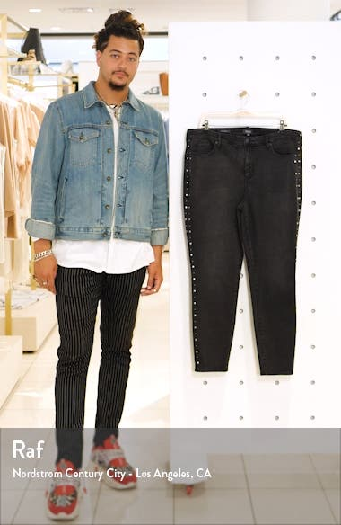 Ami Rivet Detail Ankle Skinny Jeans, sales video thumbnail