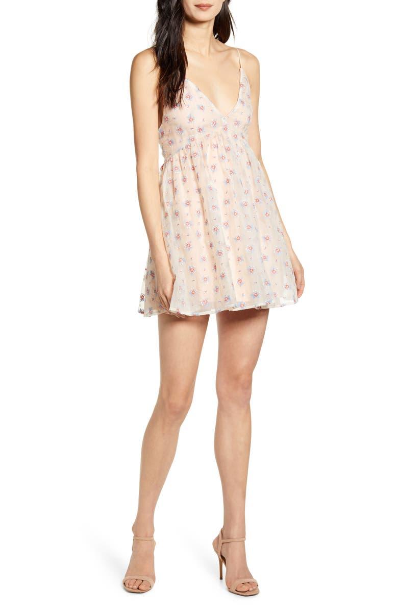 CAPULET Syrah Floral Taffeta Party Dress, Main, color, 650