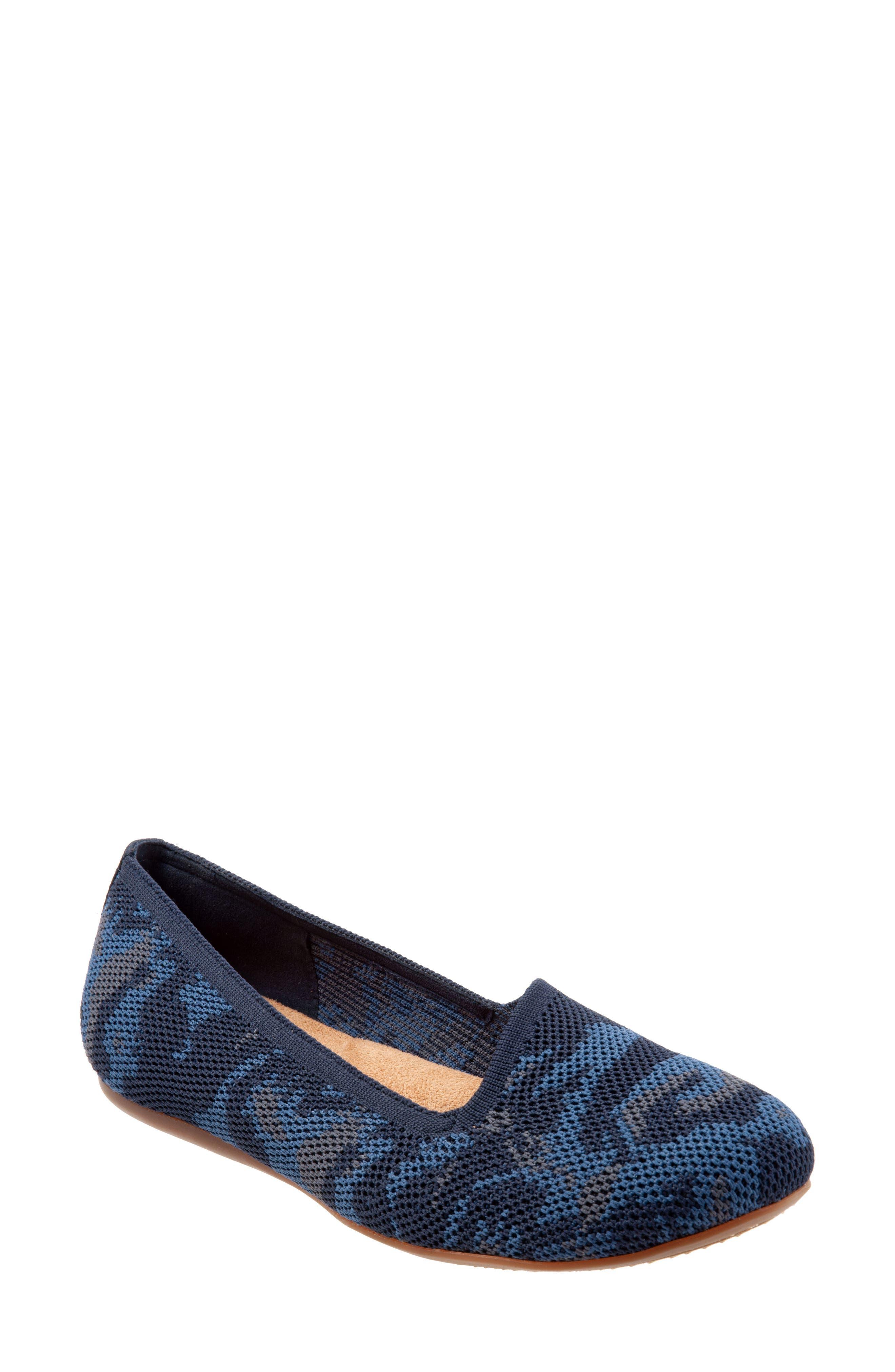 Softwalk Sicily Knit Flat WW - Blue