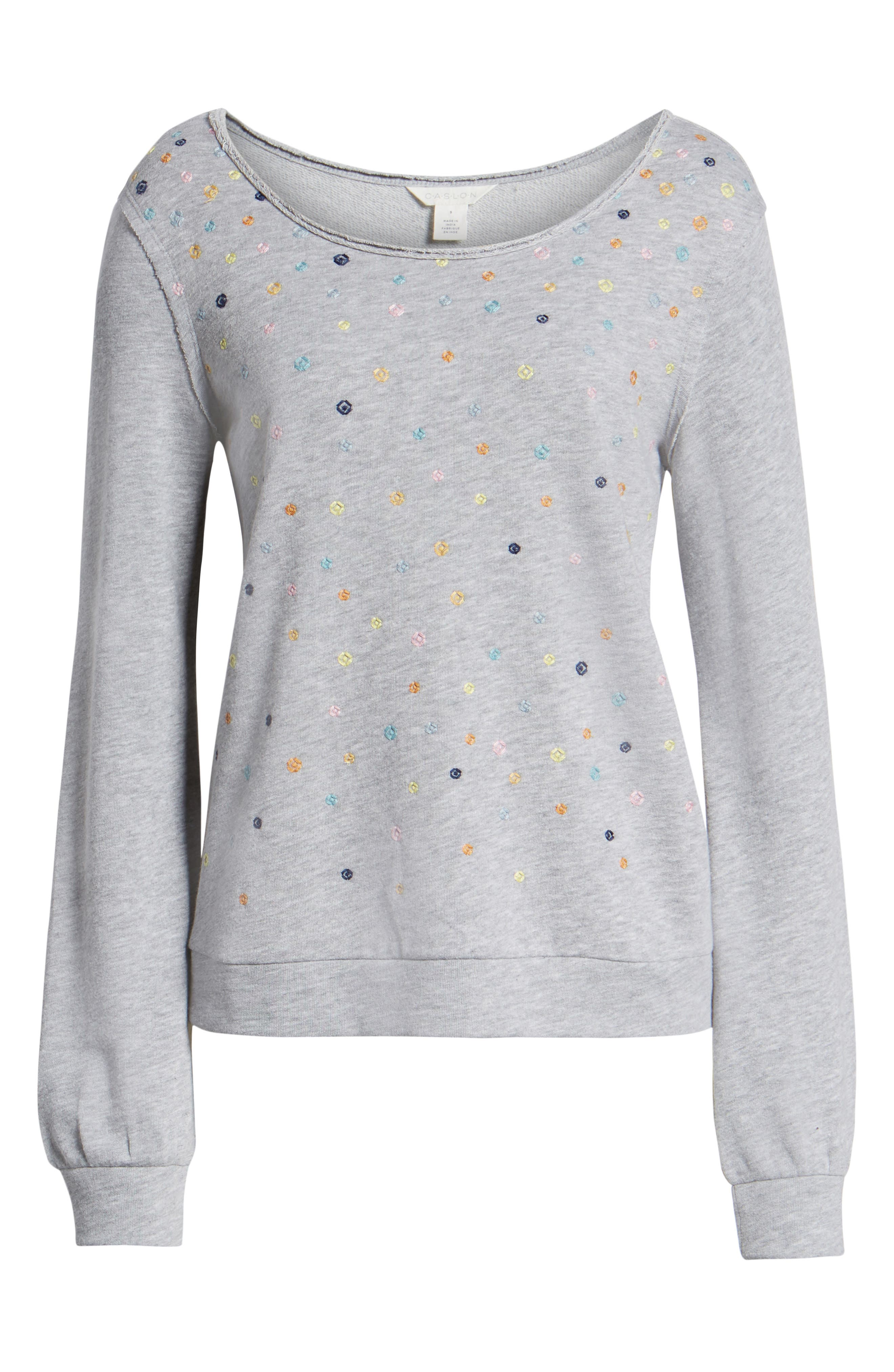 ,                             Embroidered Sweatshirt,                             Alternate thumbnail 6, color,                             030