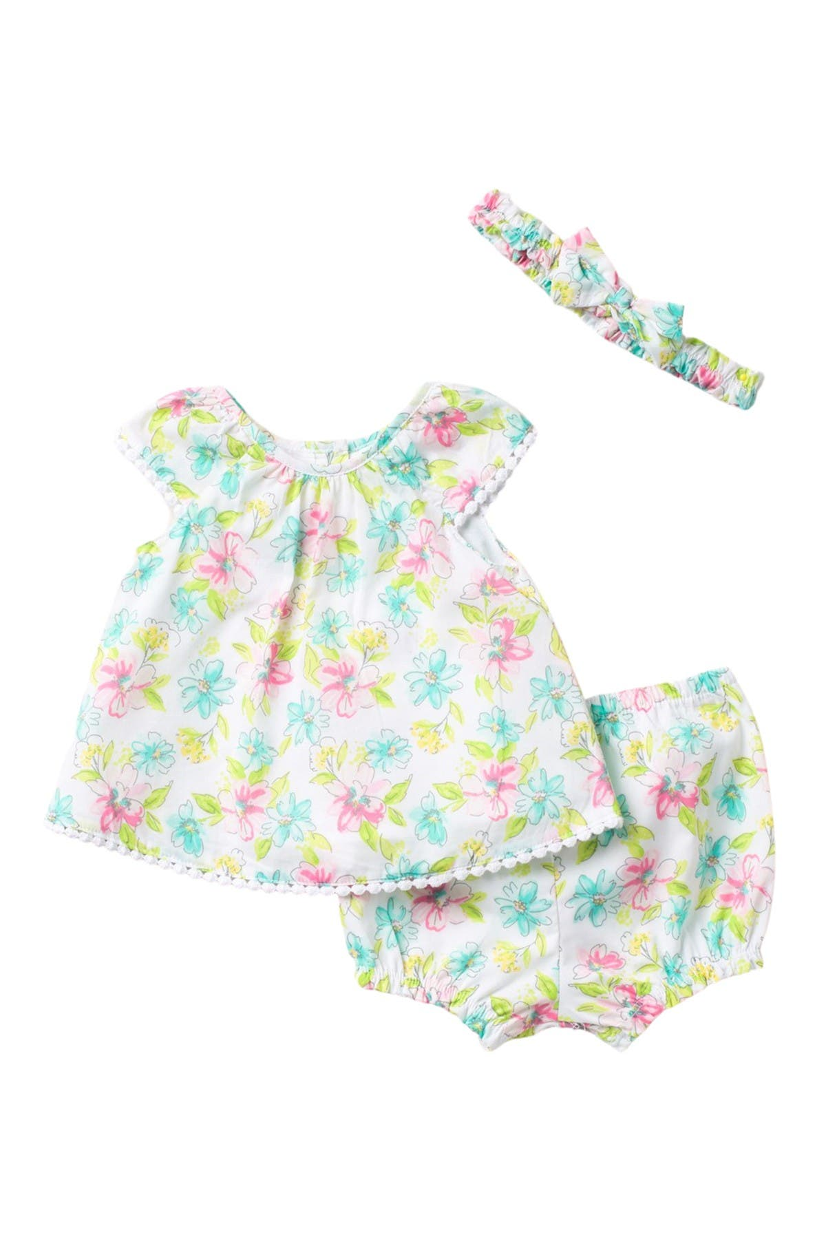 Image of Little Me Blossom Sunsuit & Headband Set