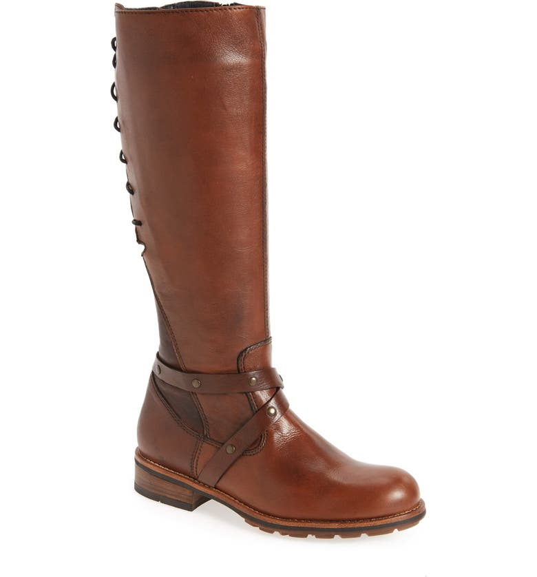 WOLKY Belmore Tall Boot, Main, color, COGNAC VELVET LEATHER