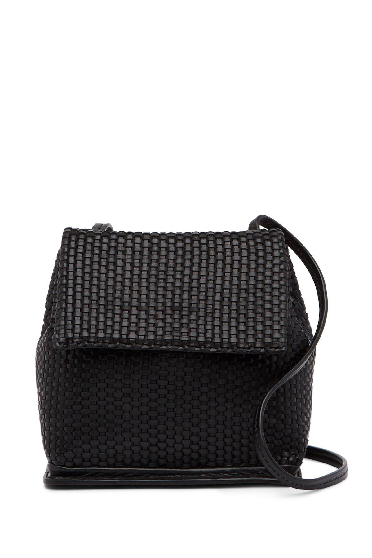 Image of Christopher Kon Mini Weave Leather Crossbody Bag