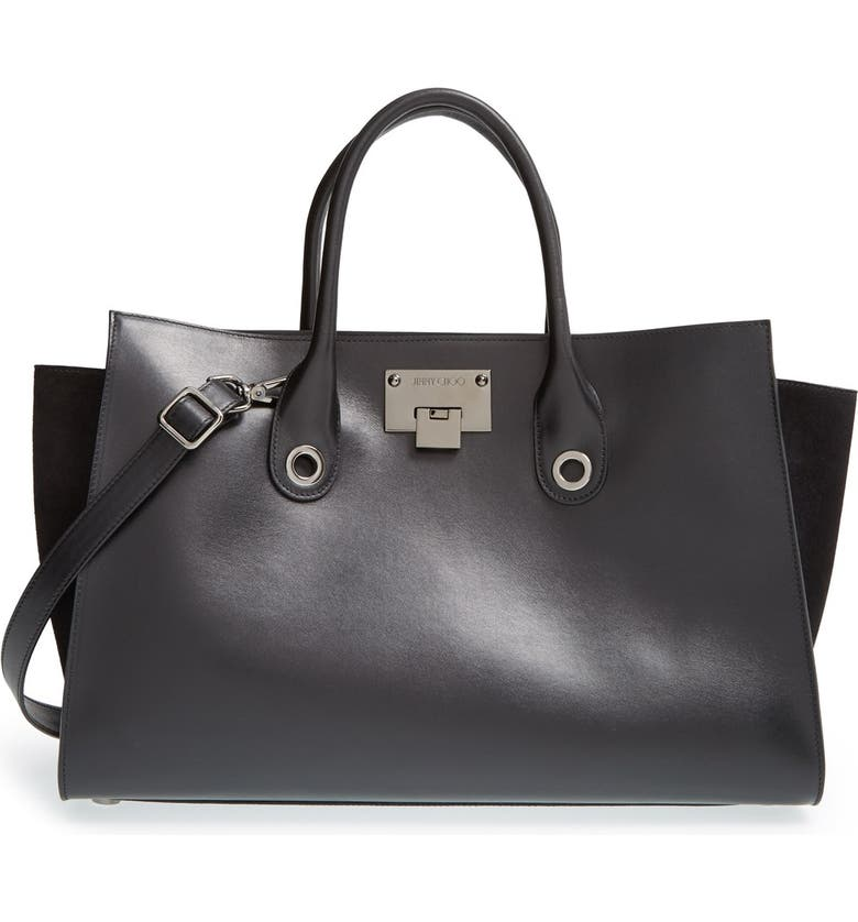 452e4e6160 Jimmy Choo 'Riley' Leather & Suede Tote   Nordstrom