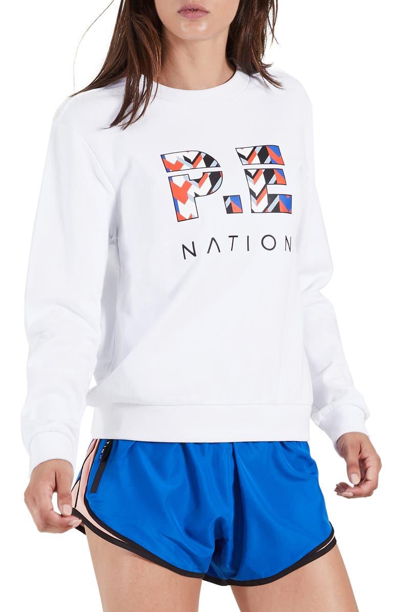 P.E NATION Tri-Ball Sweatshirt, Main, color, 100