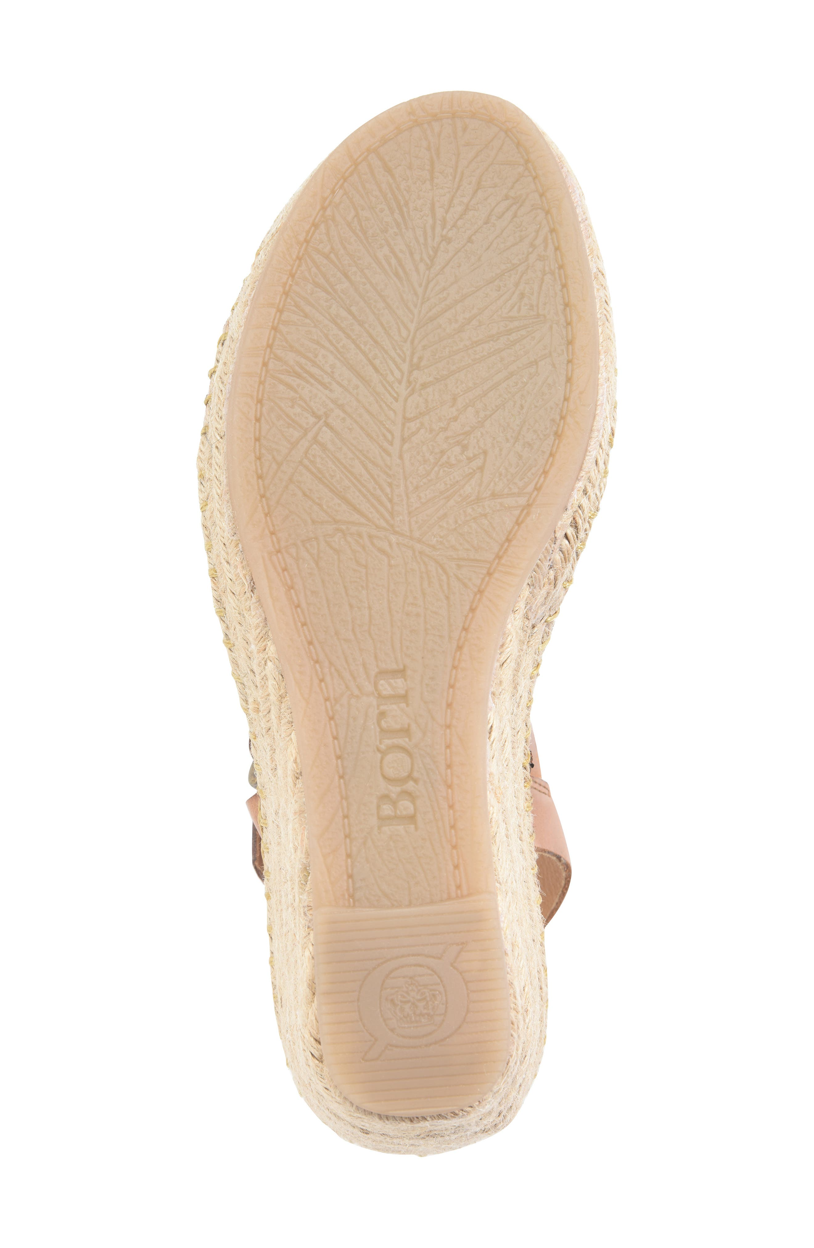 ,                             Payette Wedge Sandal,                             Alternate thumbnail 6, color,                             NATURAL/ TAN LEATHER
