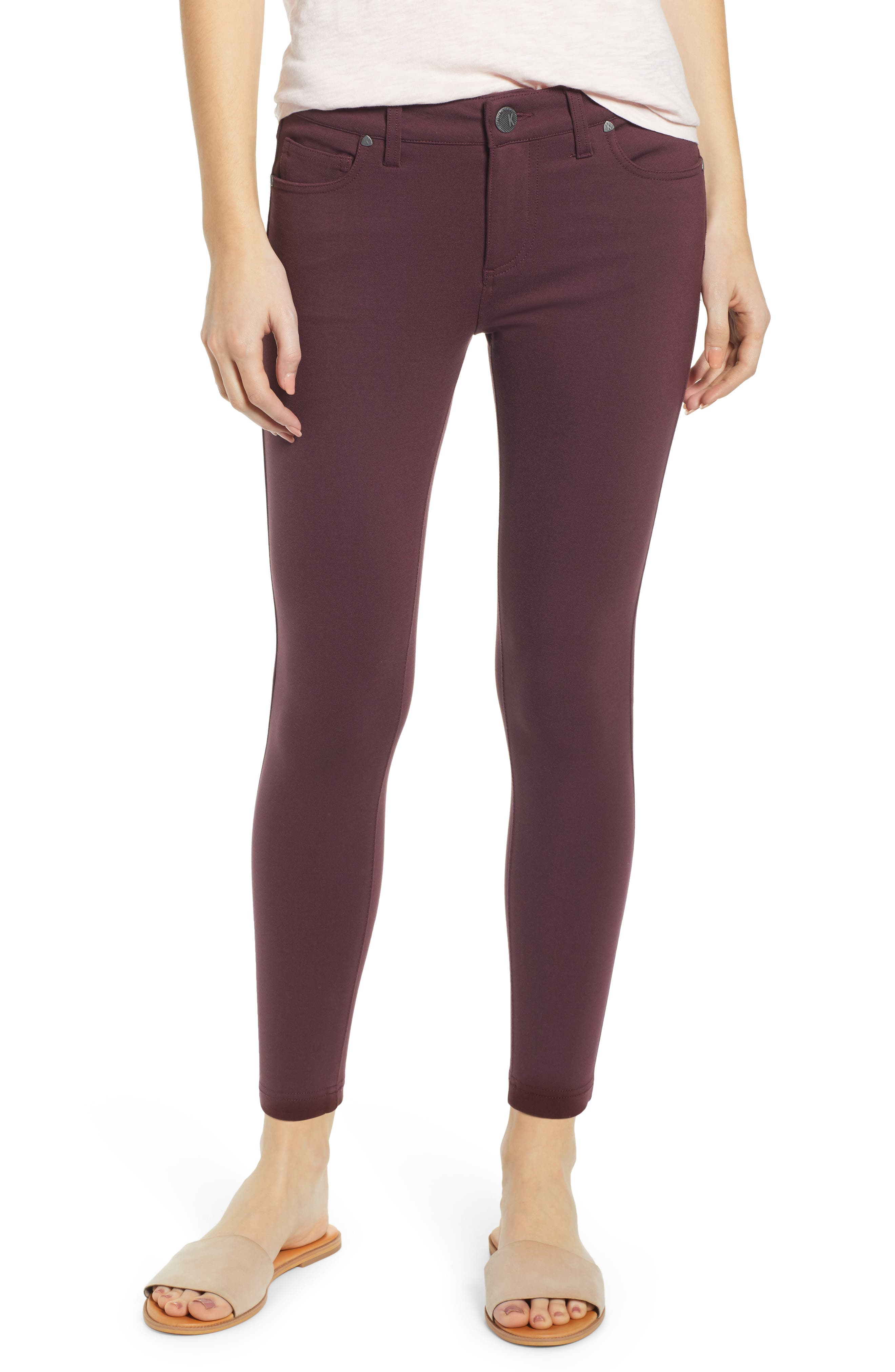 KUT from the Kloth Donna High Waist Ponte Skinny Pants (Regular & Petite)