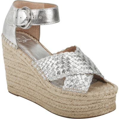 Marc Fisher Ltd Aylon Espadrille Sandal, Metallic