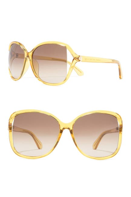 Image of kate spade new york gloria 59mm oversized butterfly sunglasses