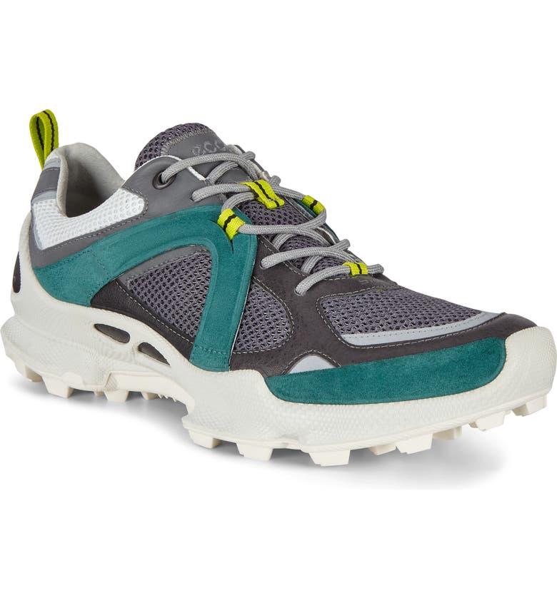 ECCO BIOM Trail Running Shoe, Main, color, GREY/ BAY GREEN